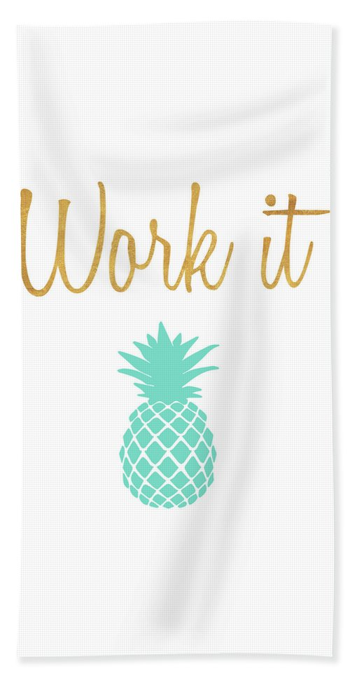 Office Beach Towel featuring the mixed media Office Pop II by South Social Studio
