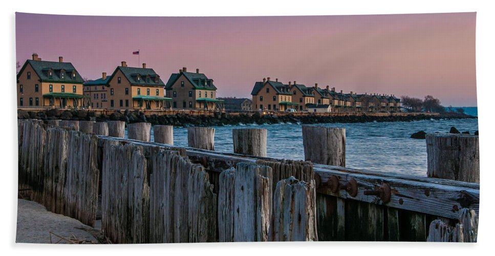 New Jersey Beach Towel featuring the photograph Officers' Row by Kristopher Schoenleber