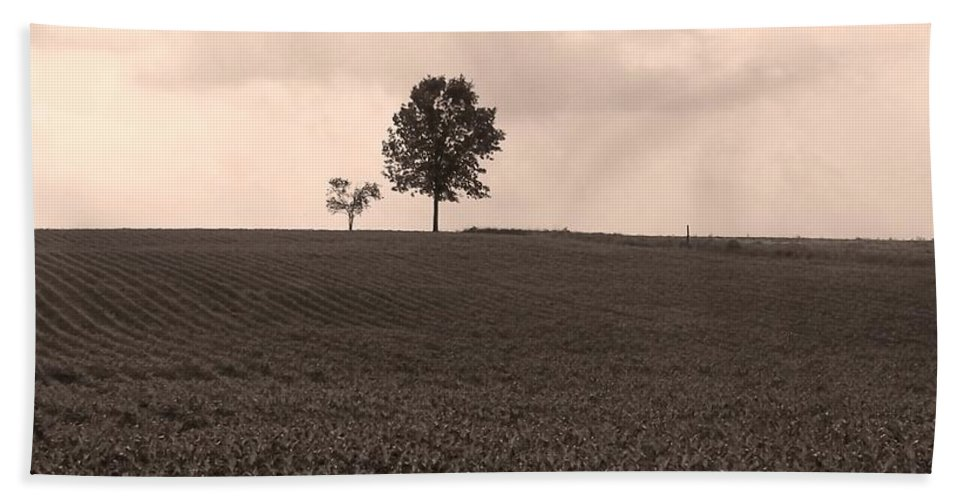 Field Beach Towel featuring the photograph Ohio Fields by Heather Bice
