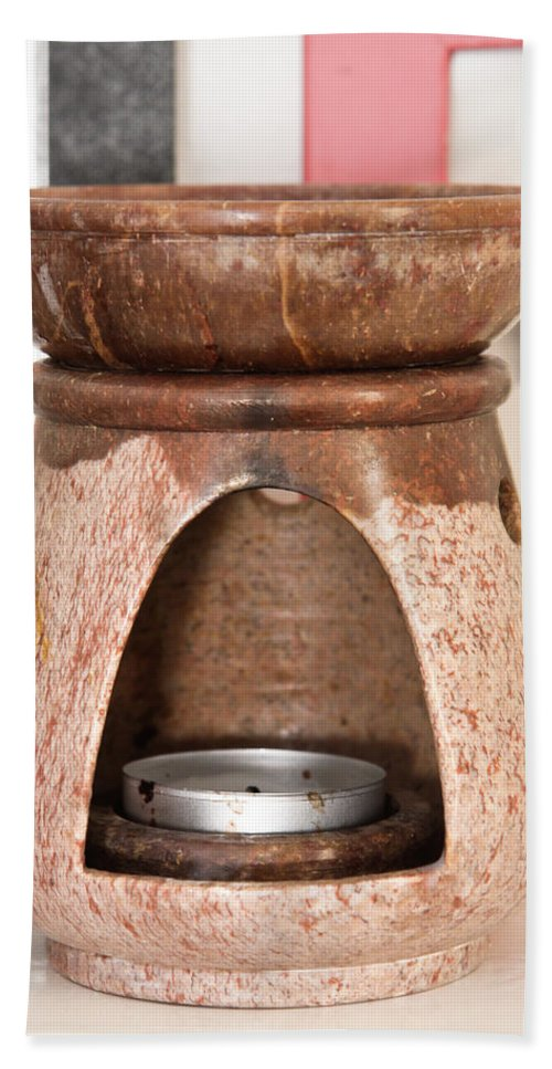 Art Beach Towel featuring the photograph Oil Burner by Tom Gowanlock