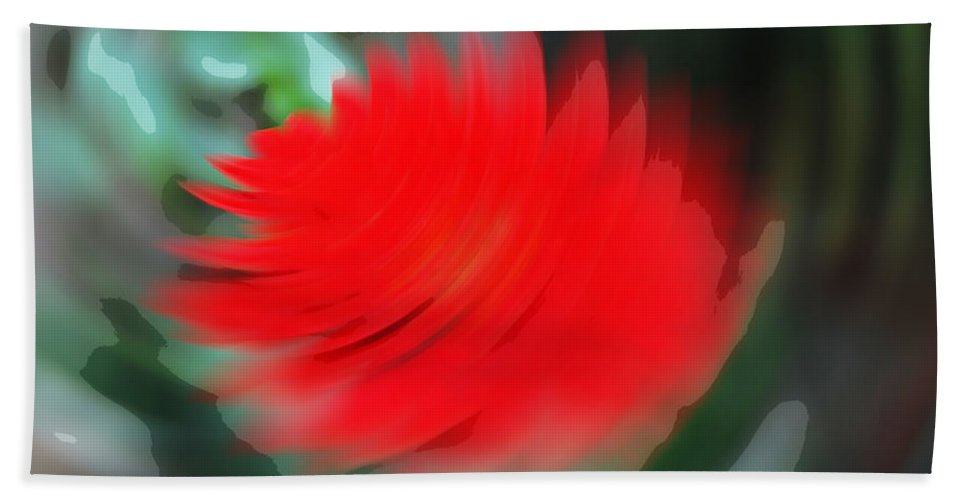 Flower Beach Towel featuring the digital art Oil Painting - A Spinning Effect To A Flower by Ashish Agarwal