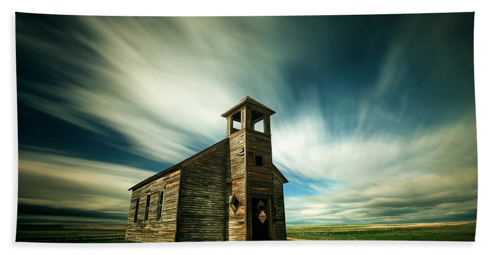 Old Beach Towel featuring the photograph Old Cottonwood Church by Todd Klassy