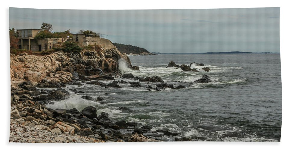 Ocean Beach Towel featuring the photograph Old Fort by Jane Luxton