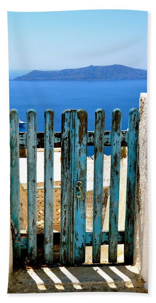 Gate Beach Towel featuring the photograph Old Gate by Corinne Rhode