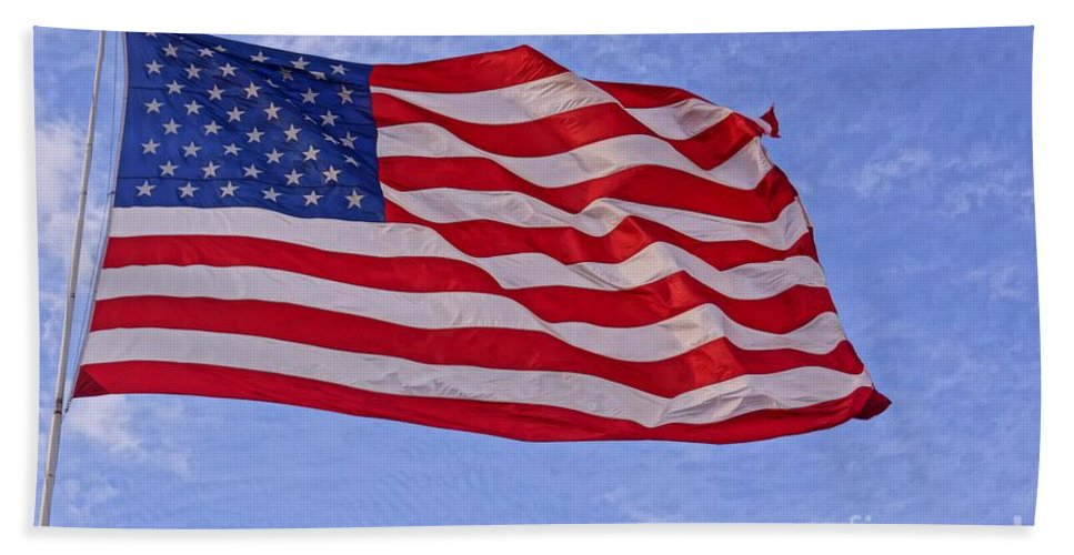 America Beach Towel featuring the photograph Old Glory by Kerri Mortenson