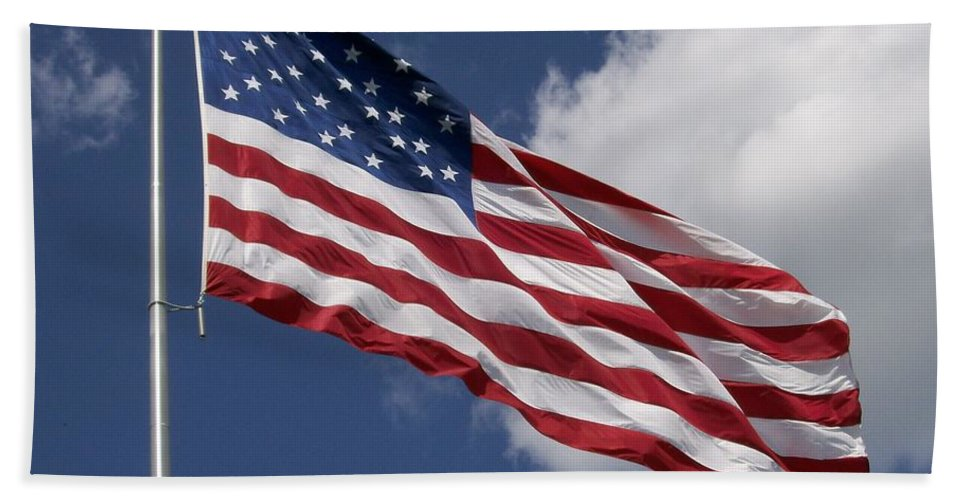 Old Glory Beach Towel featuring the photograph Old Glory by Laurie Eve Loftin
