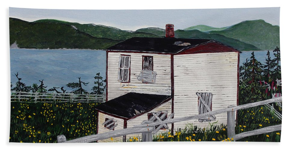 Old House If Walls Could Talk Beach Towel featuring the painting Old House - If Walls Could Talk by Barbara Griffin