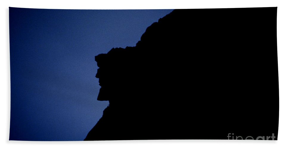 Face Beach Towel featuring the photograph Old Man Of The Mountain - Franconia Notch State Park New Hampshire by Erin Paul Donovan