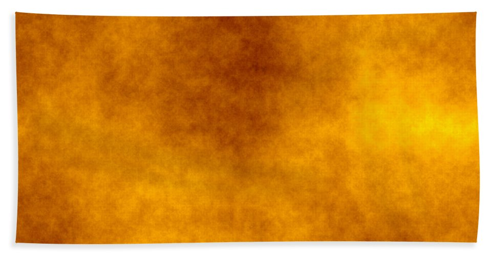 6199c6f13754 Yellow Beach Towel featuring the photograph Old Paper Texture In Yellow- orange by Valentino Visentini
