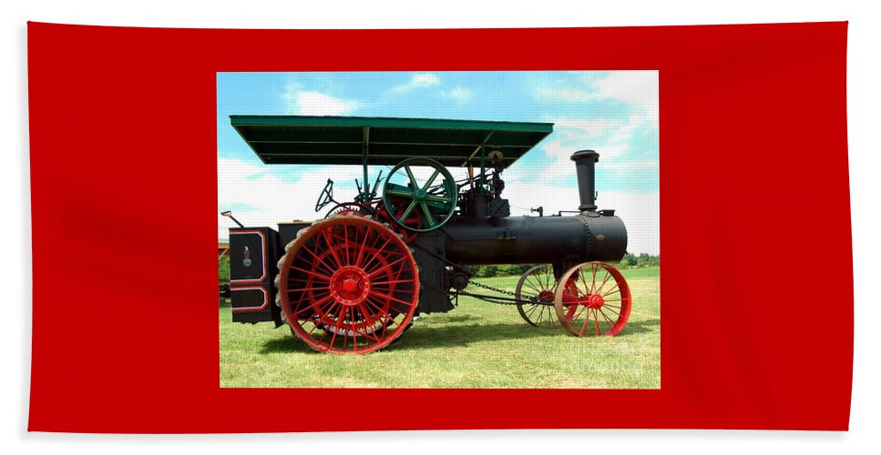Old Beach Towel featuring the photograph Old Steam Engine by Kathleen Struckle