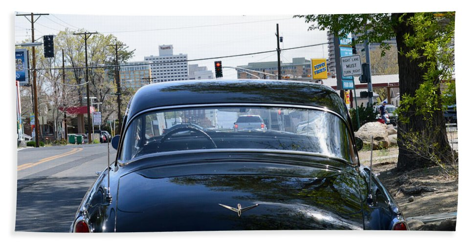 Car Beach Towel featuring the photograph Old Studebaker by Brent Dolliver