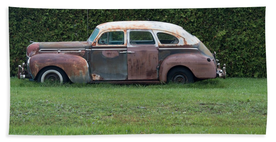 Car Beach Towel featuring the photograph Old Style by Linda Kerkau