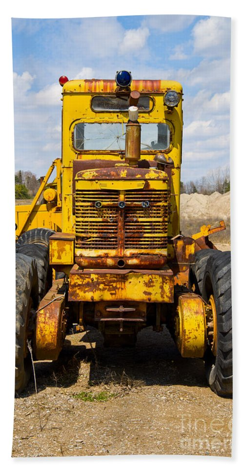 Vintage Beach Towel featuring the photograph Old Tractor by Les Palenik