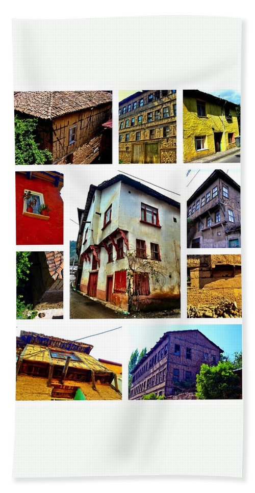 Old House Beach Towel featuring the photograph Old Turkish Houses by Zafer Gurel