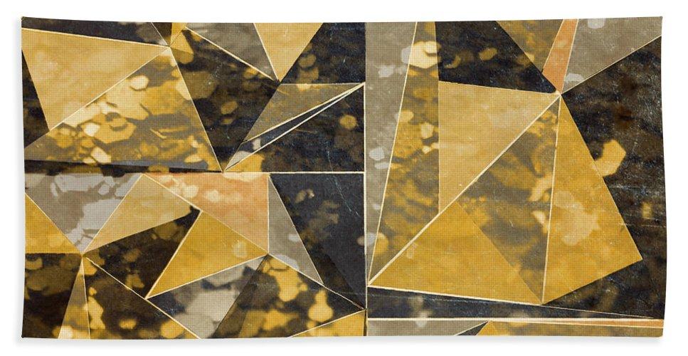 Omg Beach Towel featuring the digital art Omg Modern Triangles II by south Social Studio