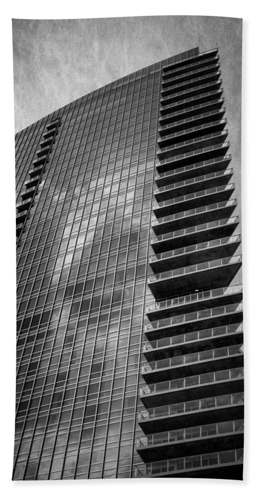 Hotel Beach Towel featuring the photograph Omni Hotel Bw by Joan Carroll