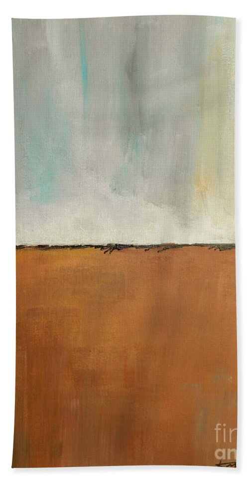 Ground Beach Towel featuring the painting On Solid Ground by Kate Marion Lapierre