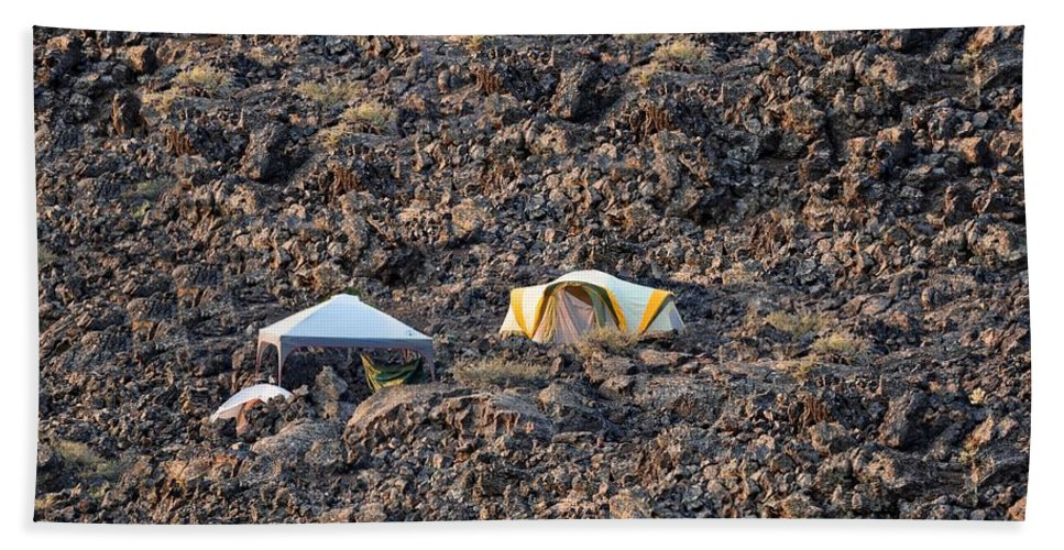 Craters Of The Moon Beach Towel featuring the photograph On The Moon by Image Takers Photography LLC - Laura Morgan