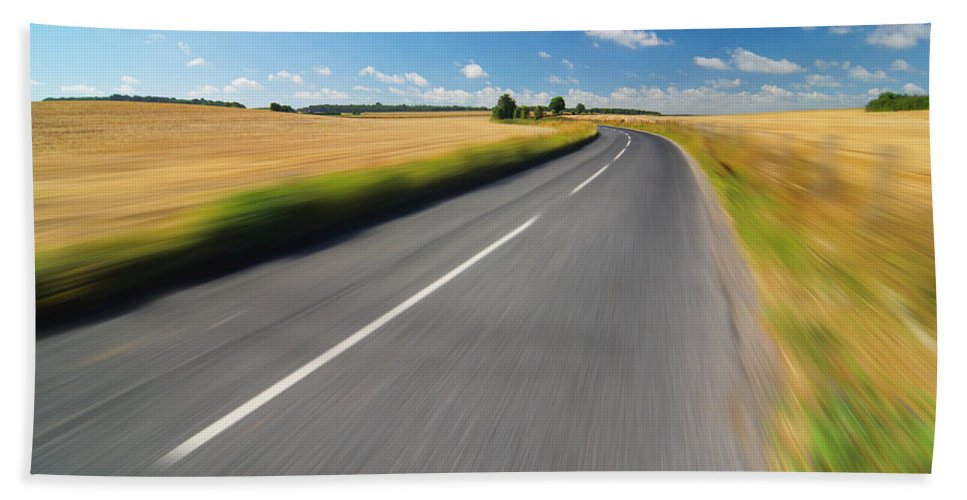 Road Beach Towel featuring the photograph On The Road by Chevy Fleet