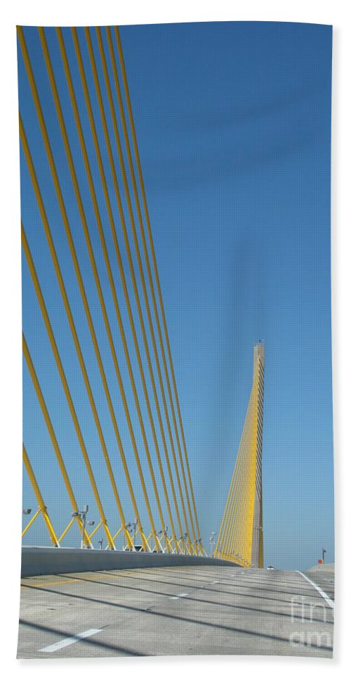 Bridge Beach Towel featuring the photograph On The Sky Way Brigde by Christiane Schulze Art And Photography