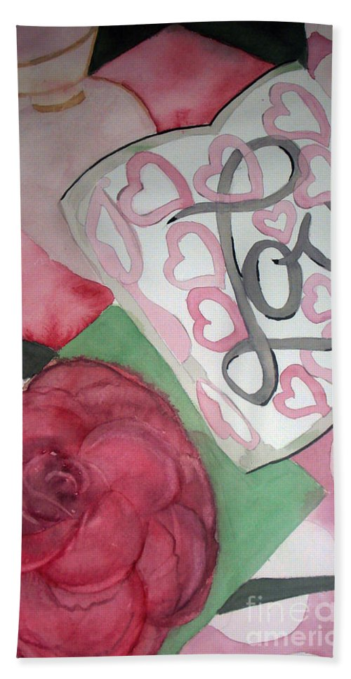 Water Color Painting Beach Towel featuring the painting Only A Life Lived For Others Is A Life Worth While by Yael VanGruber