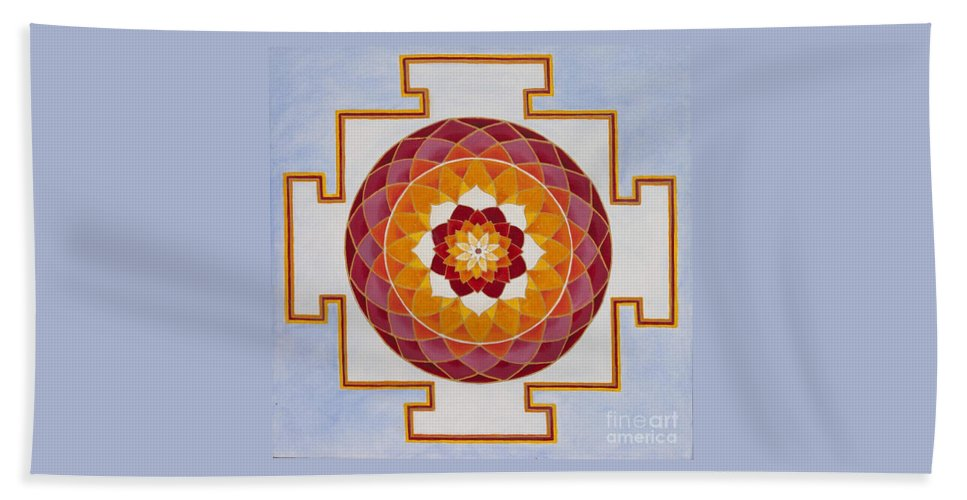 Mandala Beach Towel featuring the painting Open Heart by Mayki Wiberg