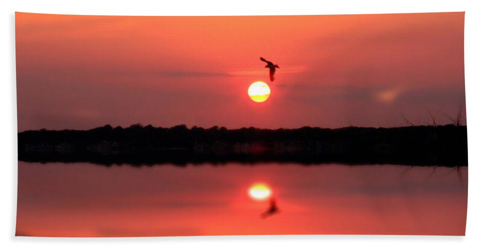 Nature Art Beach Towel featuring the photograph Orange Mood by Mark Ashkenazi