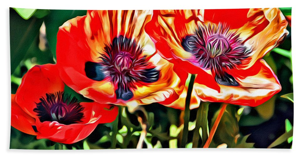 Flowers Beach Towel featuring the photograph Orange Rhapsody by Alice Gipson