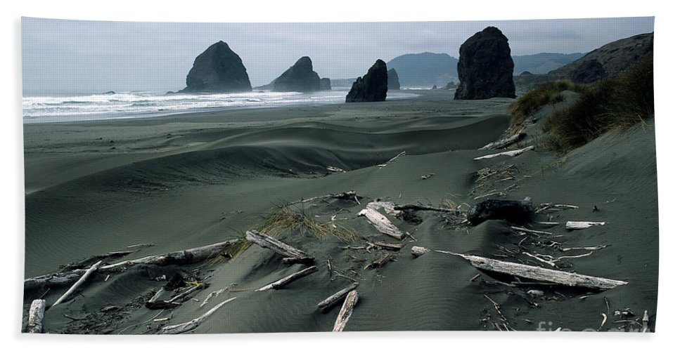 Beach Towel featuring the photograph Oregon Coast 2 by Mike Nellums