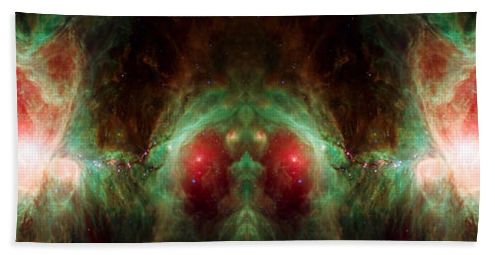 Orion Nebula Beach Towel featuring the photograph Orion's Reflection - Deep Space Nebula by Jennifer Rondinelli Reilly - Fine Art Photography
