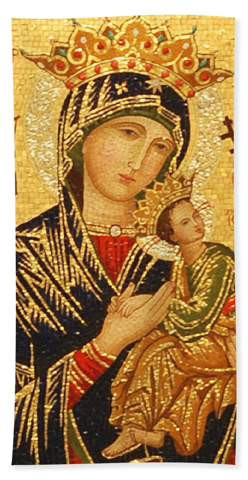 Our Lady Beach Towel featuring the photograph Our Lady Of Perpetual Help by Philip Ralley