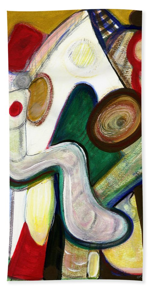 Abstract Art Beach Towel featuring the painting Out Of My Being by Stephen Lucas