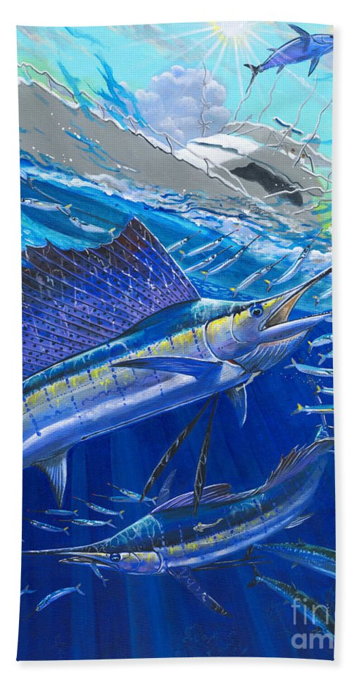 Sailfish Beach Towel featuring the painting Out Of Sight by Carey Chen