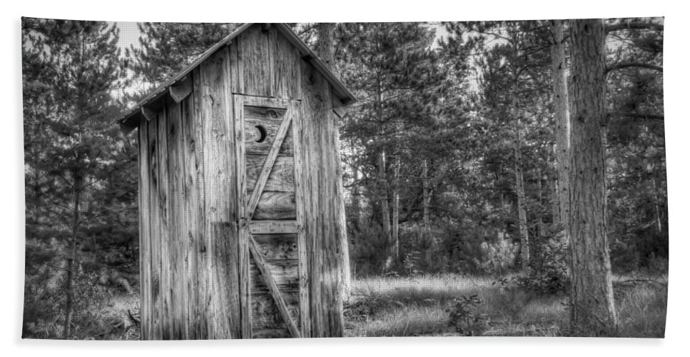 Outhouse Beach Towel featuring the photograph Outdoor Plumbing by Scott Norris