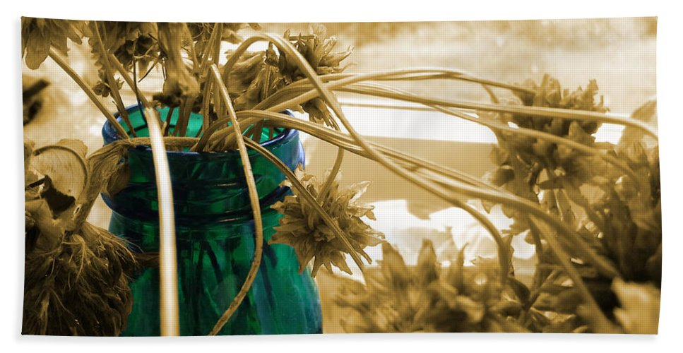Dried Clover Beach Towel featuring the photograph Over For The Clover by Martin Howard