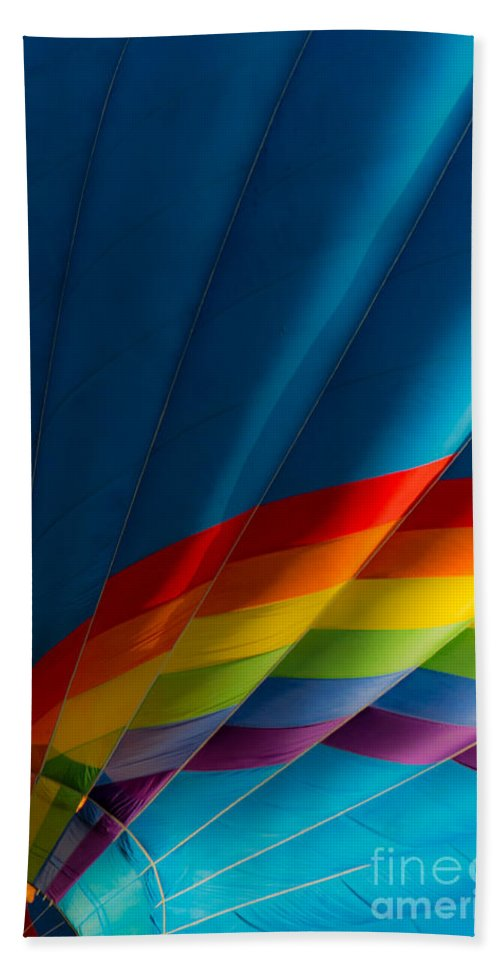 Hot Beach Towel featuring the photograph Over The Rainbow by Colleen Coccia