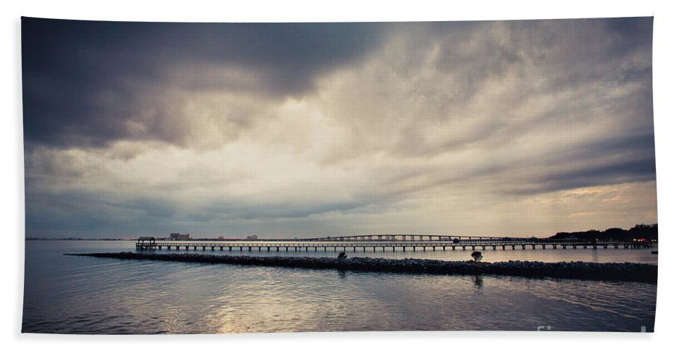 Clouds Beach Towel featuring the photograph Overcast by Joan McCool
