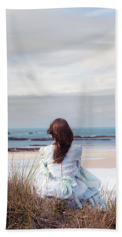 Woman Beach Towel featuring the photograph Overlooking The Sea by Joana Kruse