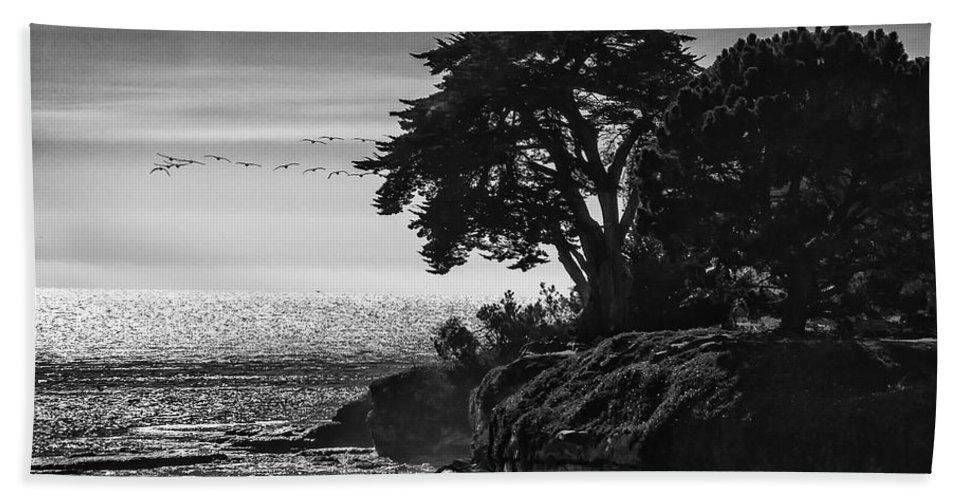 Birds Beach Towel featuring the photograph Pacific Ocean by Erika Fawcett