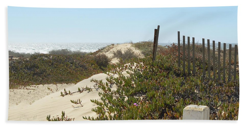 Pacific Pathway Beach Towel featuring the digital art Pacific Pathway by Barbara Snyder