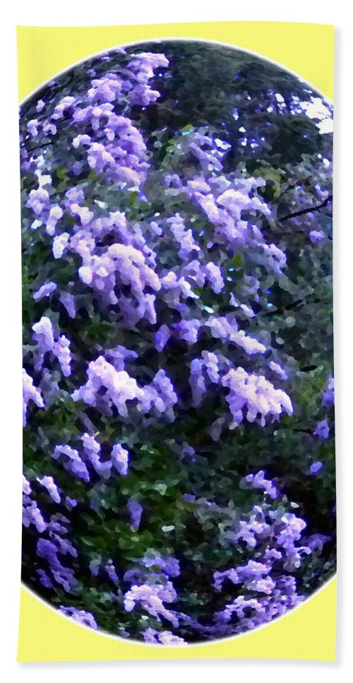 Painted Lilacs Beach Towel featuring the digital art Painted Lilacs by Will Borden