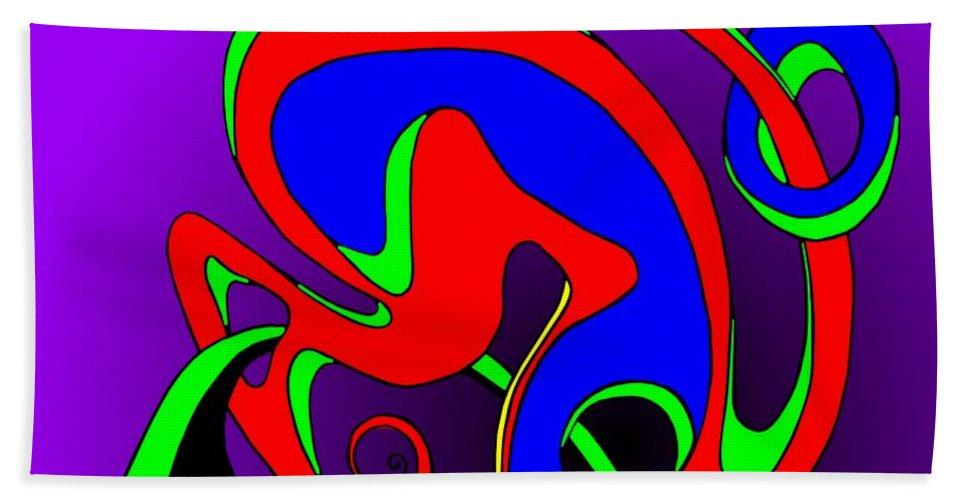 Paar Beach Towel featuring the digital art Pair 2014 by Helmut Rottler