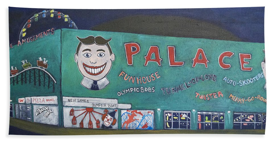 Tillie Beach Towel featuring the painting Palace 2013 by Patricia Arroyo