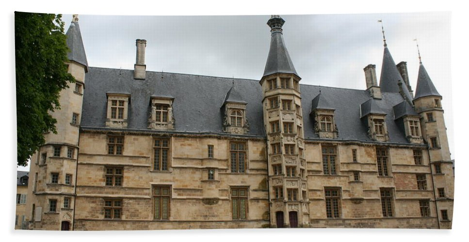 Palace Beach Towel featuring the photograph Palace Ducal Nevers by Christiane Schulze Art And Photography