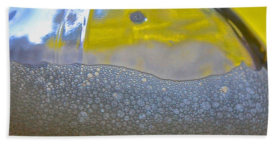 Pale Ale Beach Towel featuring the photograph Pale Ale Suds by Bill Owen