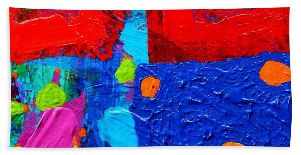 Modern Beach Towel featuring the painting Palimpsest Viii by John Nolan