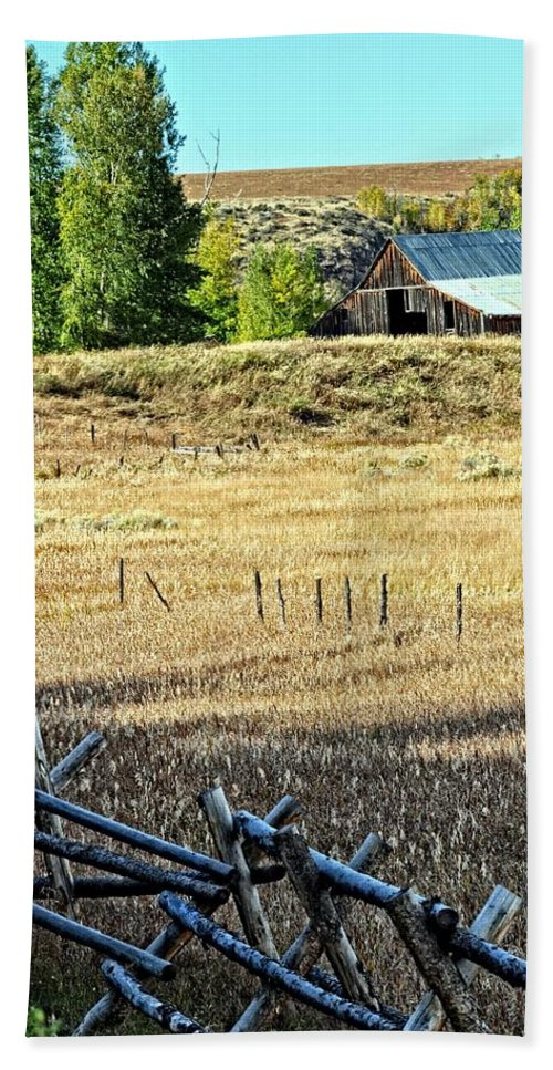 Barn Beach Towel featuring the photograph Palisades Idaho by Image Takers Photography LLC