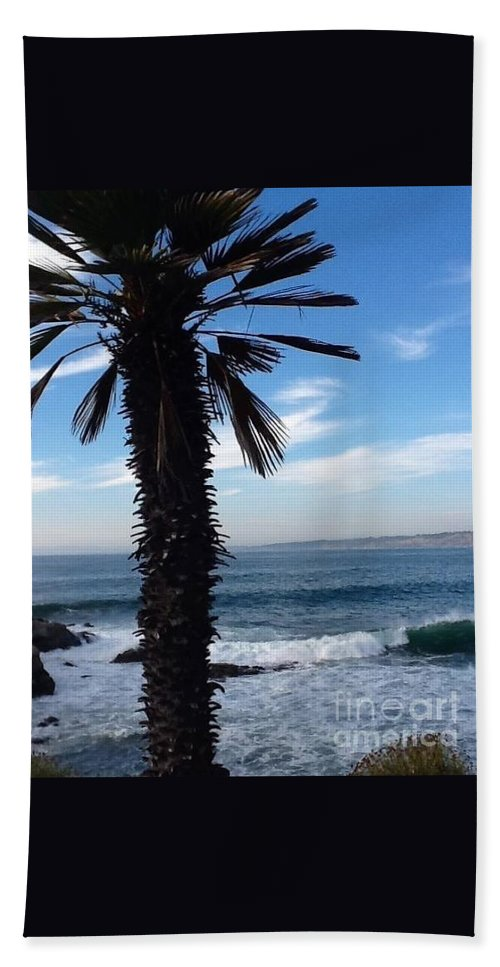 Waves Beach Towel featuring the photograph Palm Waves by Susan Garren