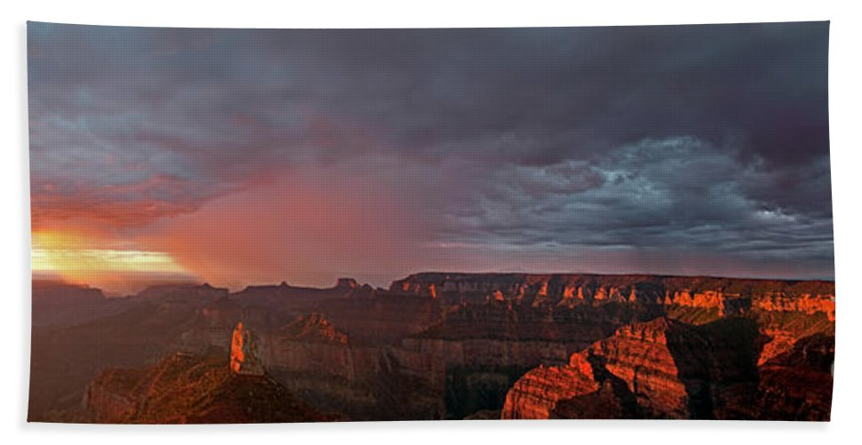 North America Beach Towel featuring the photograph Panorama North Rim Grand Canyon National Park Arizona by Dave Welling