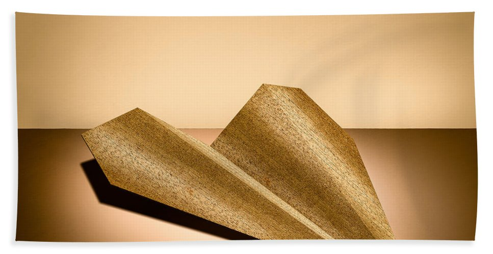 Aircraft Beach Towel featuring the photograph Paper Airplanes Of Wood 6 by YoPedro